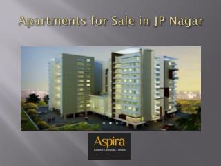 Apartments for Sale in JP Nagar