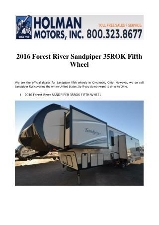2016 Forest River Sandpiper 35ROK Fifth Wheel