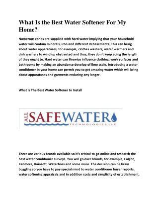 Water Softener Shamong NJ