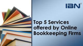 Top 5 services offered by online bookkeeping firms