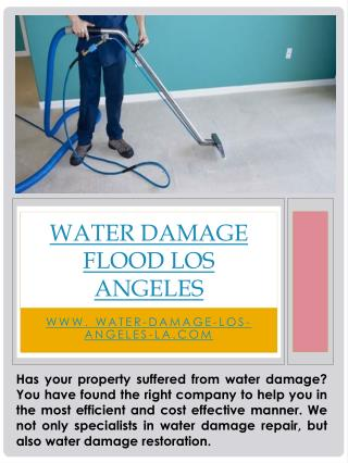 Water Damage Flood Los Angeles