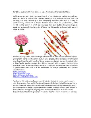 Send Fine Quality Rakhi Thali Online to Elate Your Brother this Festival of Rakhi.doc.pdf Uploaded Successful