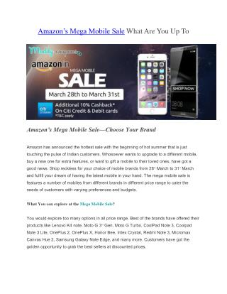 Amazon-Mega-Mobile-Sale-Maddycoupons.in