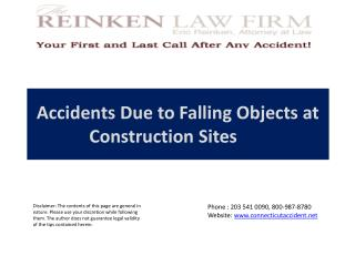 Accidents Due to Falling Objects at Construction Sites