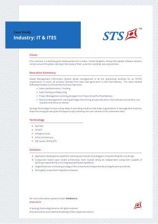 Case Study - Global Management Information System