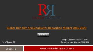 Thin-film Semiconductor Deposition Market Trends, Challenges and Growth Drivers Analysis 2020