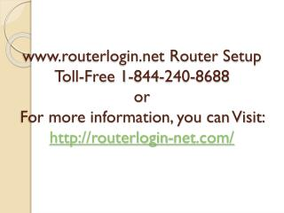 www.routerlogin.net Router Setup 1-8442408688
