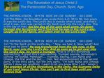 The Revelation of Jesus Christ 3 The Pentecostal Day, Church, Spirit, Age