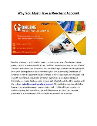 Need of Virtual Terminal Merchant Account
