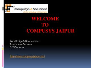 Web Development, Website Design, ecommerce company in Jaipur