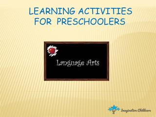 Preschool Learning Activities - Languare Art