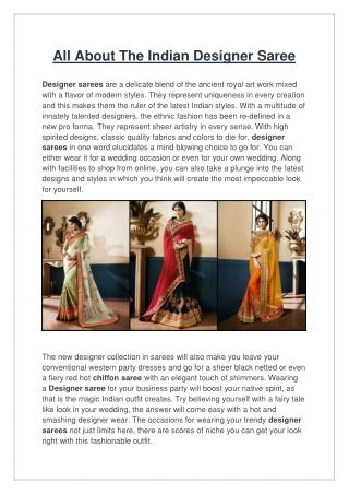 All about the indian designer