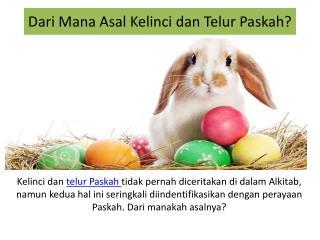 Dari Mana Asal Kelinci dan Telur Paskah