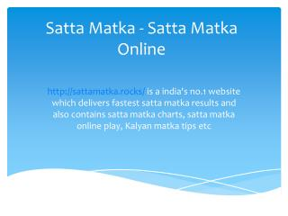Satta Matka Play | sattamatka.rocks - Satta Matka - Satta Matka Online