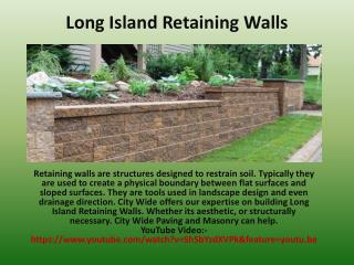 Long Island Retaining Walls.