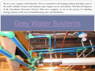 Grey Water Diverter Systems