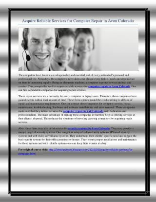 Acquire Reliable Services for Computer Repair in Avon Colorado.pdf