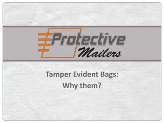Tamper Evident Bags Why Them