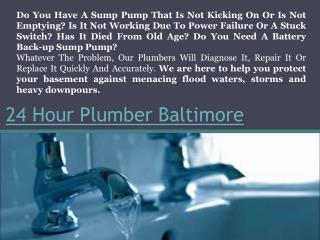 24 Hour Plumber Harford County