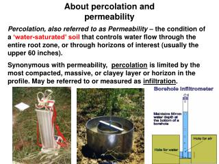 About percolation and permeability
