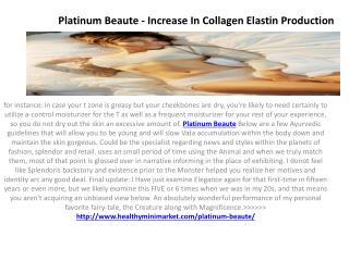 Platinum Beaute - Enhance Skin By Reducing Wrinkles