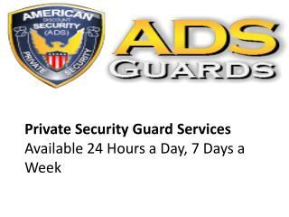 Security Guard San Jose