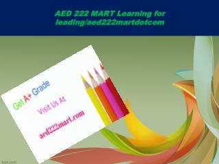 AED 222 MART Learning for leading/aed222martdotcom