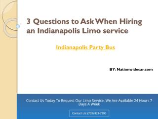 3 Questions to Ask When Hiring an Indianapolis Limo service