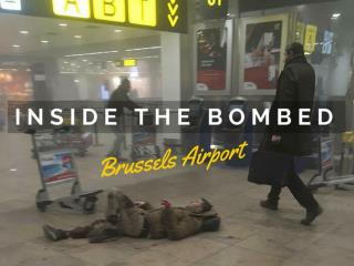 Inside the bombed Brussels airport