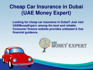 Cheap Car Insurance in Dubai - UAEMoneyExpert