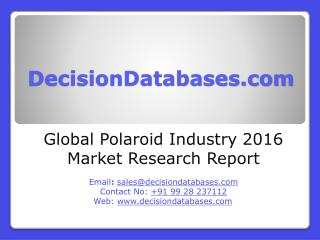 Global Polaroid Industry- Size, Share and Market Forecasts 2021