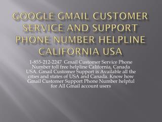 I-855*212*I2247 gmail customer service number