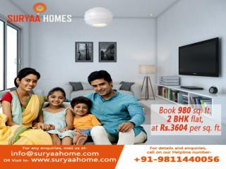 980 Sq Ft 2 bhk flats in dwarka at just Rs 3604 per sq ft