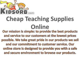 Cheap Teaching Supplies Online