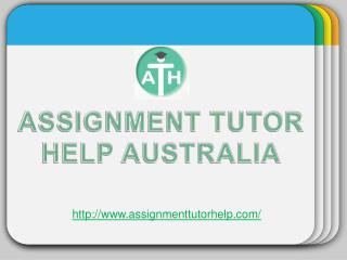 Assignment tutor help australia