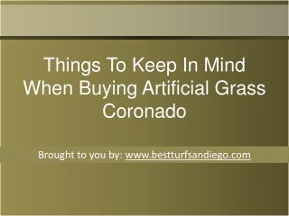Things To Keep In Mind When Buying Artificial Grass Coronado