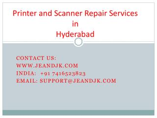 Scanner Repair Services in Hyderabad.