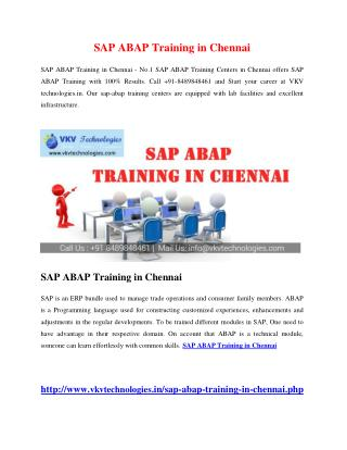 SAP ABAP Training in Chennai