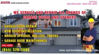 Broken Garage Door Spring Repair Services - Austin, TX