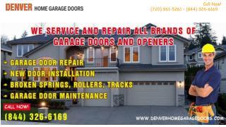Broken Garage Door Spring Replacement Service in Denver, CO