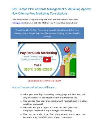 Tampa PPC Management - Pay Per Click Marketing