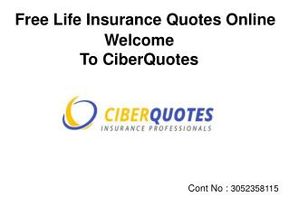 Instant & Free Life Insurance Quotes Online CiberQuotes