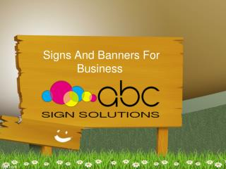 Signs And Banners For Business