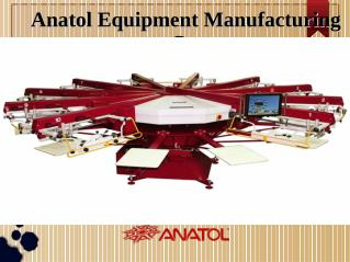 Screen Printing Machines Equipment - anatol.com