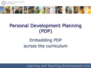 Personal Development Planning PDP