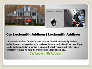 Car Locksmith Addison| Locksmith Addison