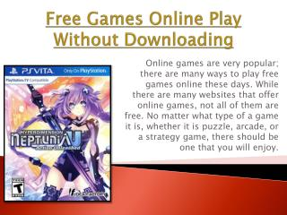 Free Games Online Play