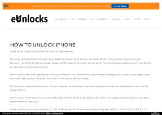 Unlock iPhone in Toronto with eUnlocks