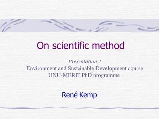 On scientific method