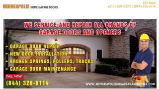 Broken Garage Door Spring Repair & Replacement - Minneapolis, MN